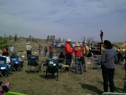 Cowboys & Natives coming together for th totem pole blessing!