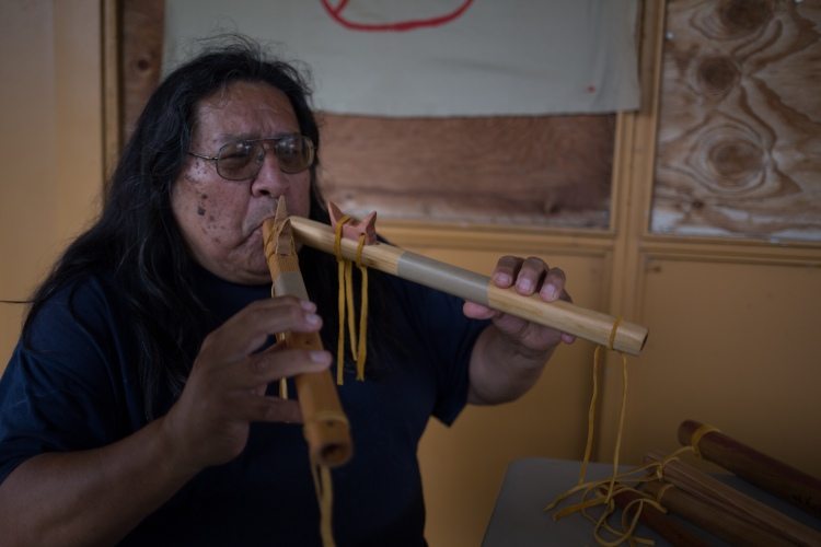 Lakota George is twice the flute player as the average person.